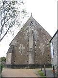 ST5038 : Gable of Glastonbury Abbey Barn by M J Richardson