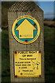 SE8437 : A path marker on Sand Lane by Ian S