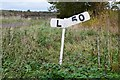 NT4368 : Gradient sign, former railway at Pencaitland by Jim Barton
