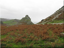 SS7049 : Castle Rock in the Valley of Rocks by M J Richardson