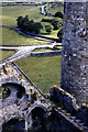 S0740 : Rock of Cashel, view down into Cathedral, 1960 by Bruce Tait