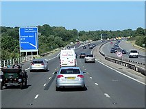 SU5407 : M27, Exit at Park Gate Junction by David Dixon