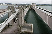 SH7877 : Conwy Suspension Bridge and Railway Bridge by Ian Capper