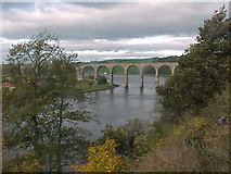 NT9953 : The Royal Border Bridge carries the East Coast Main Line over the River Tweed by Tim Glover