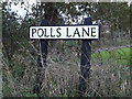 TM4187 : Polls Lane sign by Adrian Cable