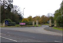 NZ2288 : Gateway to Longhirst Hotel, Golf Course and Spa by Russel Wills