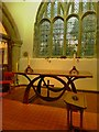 SJ3058 : Altar table and Celtic cross by Richard Hoare