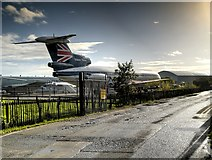 SJ8184 : Manchester Airport Runway Visitor Park Entrance by David Dixon
