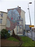 SX9292 : Mural, Holloway Street, Exeter by David Smith