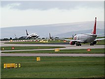 SJ8184 : Manchester Airport Runway by David Dixon
