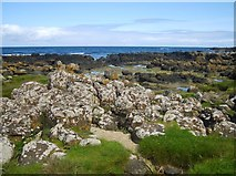C9444 : Lichen covered boulders at Port Granny by Eric Jones