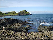 C9444 : The western edge of the Giant's Causeway with the Great Stookan in the middle ground by Eric Jones
