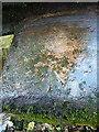 SJ7809 : OS rivet at Lizard Mill ford by Richard Law