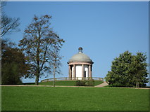 SD8304 : Temple, Heaton Park, Manchester by Tricia Neal