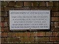 SU4603 : Victoria Quay refurbishment plaque by Jonathan Billinger