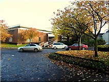 H4572 : Autumnal at Omagh Library by Kenneth  Allen