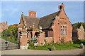 SO8094 : Lodge at Ludstone Hall by John M