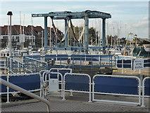 SU4208 : Boat Lift by Val Pollard