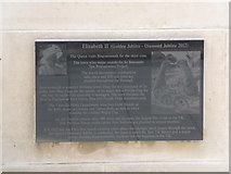 SZ0890 : Bournemouth: Diamond Jubilee Plaque (15) by Chris Downer