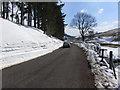 SJ9871 : Deep snow beside road, N of Wildboarclough by Colin Park
