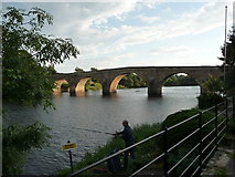NY9170 : Chollerford Bridge on the North Tyne by Vernon Dunhill