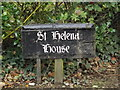 TM4671 : St.Helena House sign by Adrian Cable