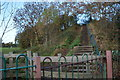 TA0329 : Steps up to the former railway line at Gorton Road by Ian S