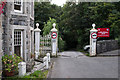 SH5371 : Gates to Plas Llanfair by Ian Capper