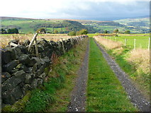 SE0023 : New Lane, Hebden Royd FP91, and stile on FP107 by Humphrey Bolton