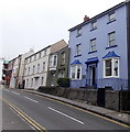 SM9801 : Shades of blue on Westgate Hill, Pembroke by Jaggery