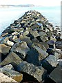 SY3491 : Breakwater at the eastern end of The Cobb, Lyme Regis by Brian Robert Marshall