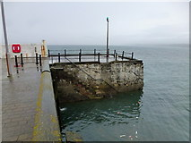 NX3343 : Port William quay by Jonathan Billinger