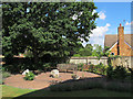 TQ3365 : Peace garden at St Matthew's church by Stephen Craven