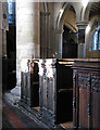 TL3256 : Bourn: St Helena and St Mary - pews and piers by John Sutton