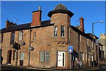 NS5521 : Corner of Church Hill & Main Street, Auchinleck by Leslie Barrie