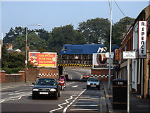 J2664 : Train crossing Antrim Street bridge, Lisburn - 1995 by The Carlisle Kid