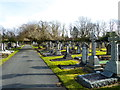 SJ7886 : Monuments in Hale Cemetery by Anthony O'Neil