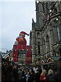 SJ8398 : Christmas market in front of the Town hall, Manchester by Steve  Fareham