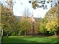 TQ2583 : St Augustine, Kilburn seen from Randolph Gardens Open Space by Marathon