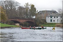 NN6207 : Canoes on the River Teith, Callander by Jim Barton