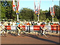 TQ2979 : Racing cyclists on The Mall by Stephen Craven