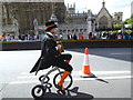 TQ3079 : Eccentric cyclist in Parliament Square by Stephen Craven