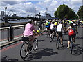 TQ3180 : Mass cycling on Victoria Embankment by Stephen Craven