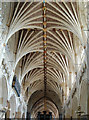 SX9292 : Fan vaulting in the nave, Exeter Cathedral by Julian P Guffogg