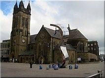 SD3036 : St. John the Evangelist's church, Church Street, Blackpool by Tricia Neal