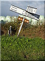 TM2360 : Roadsign on Brandeston Road by Adrian Cable