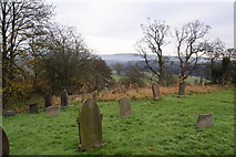 SD7138 : Churchyard of All Hallows, Great Mitton by Bill Boaden