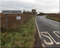 ST8081 : Western boundary of Acton Turville by Jaggery