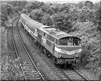 J4681 : Locomotive hauled passenger train approaching Crawfordsburn station - 1990 by The Carlisle Kid