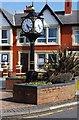 SD3548 : Millennium Clock, Barton Square, Knott End-on-Sea by P L Chadwick
